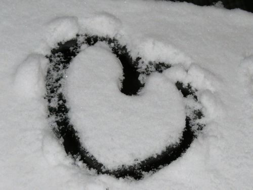 heart,snow,snow heart,winter,cold,love,i love you,i like you