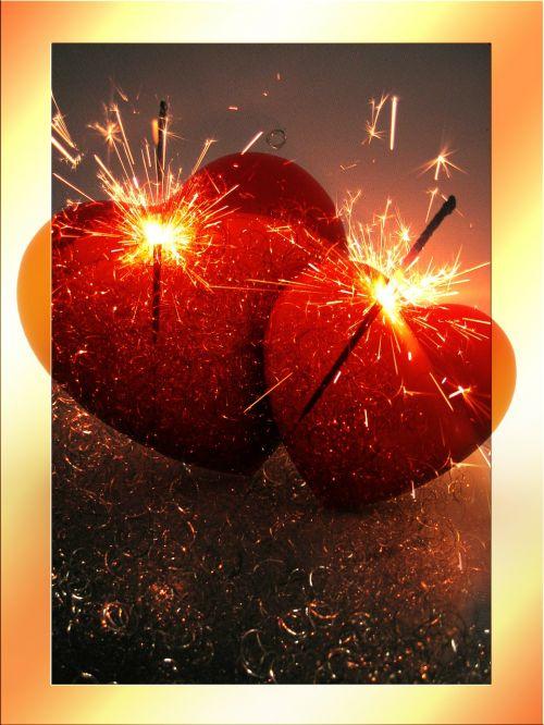 heart love sparklers