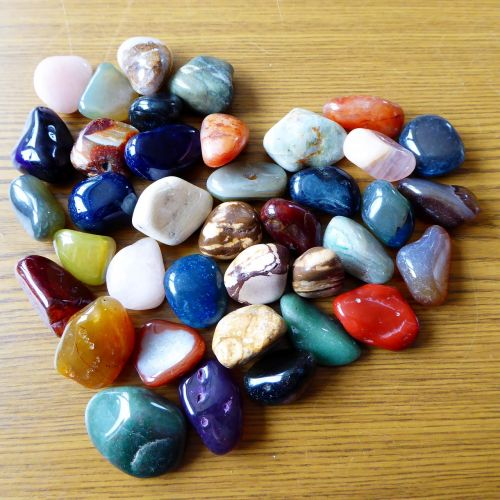 heart stones colorful