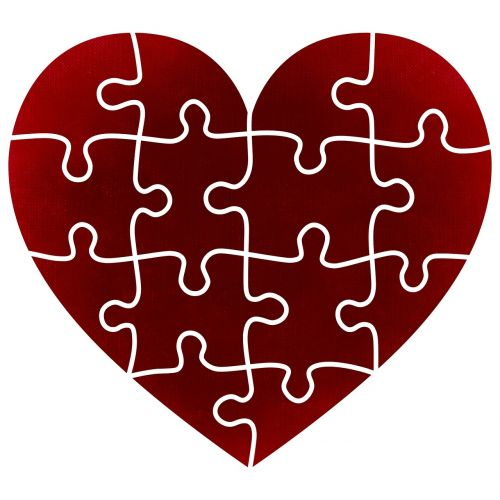 heart puzzle pieces of the puzzle
