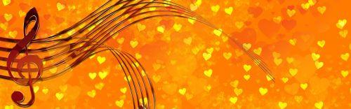 heart orange clef