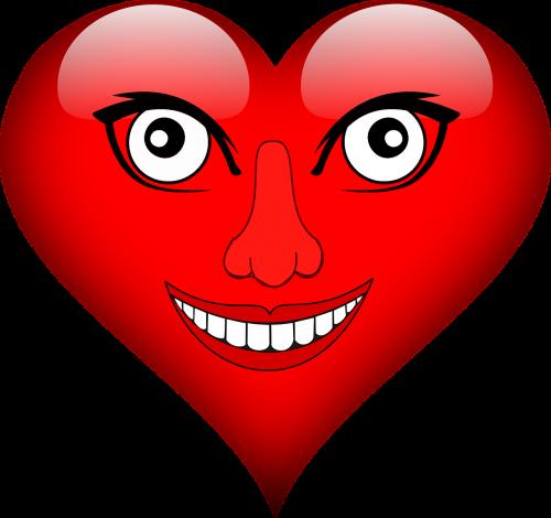 heart eyes laugh