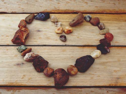 heart stone heart stones