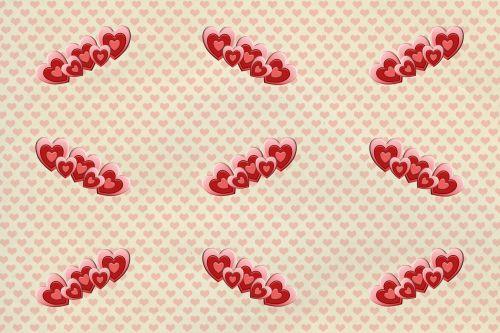 Heart Banner Background