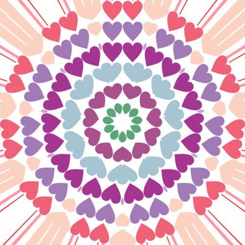 heart circle hearts valentine
