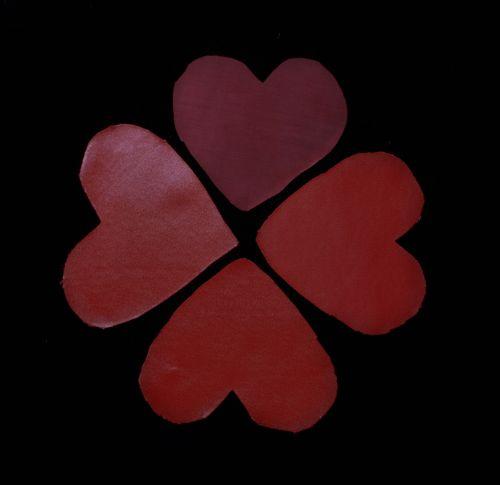 širdis, atspalvių, raudona, klasteris, satin, dobilas, širdies dobilas