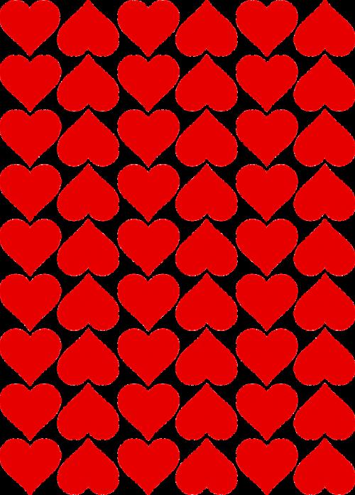 hearts tiles valentines