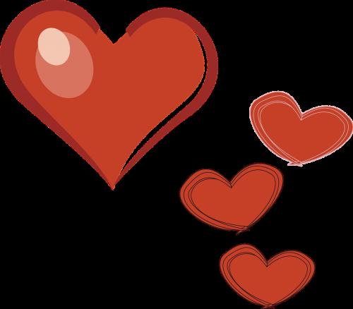 hearts love scrapbook
