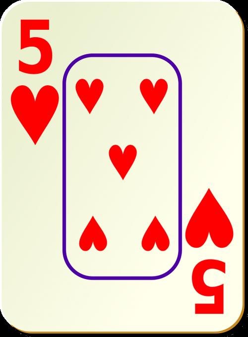 hearts five 5