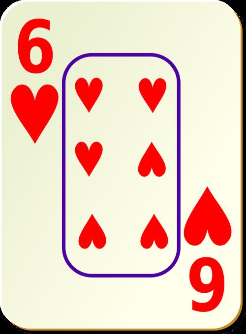 hearts six 6