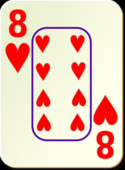 hearts eight 8