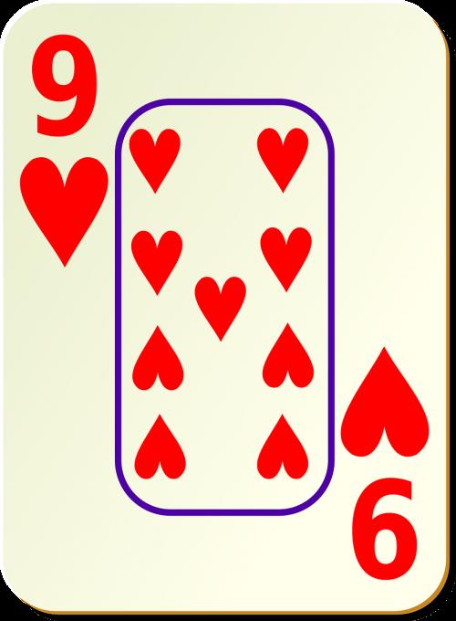 hearts nine 9