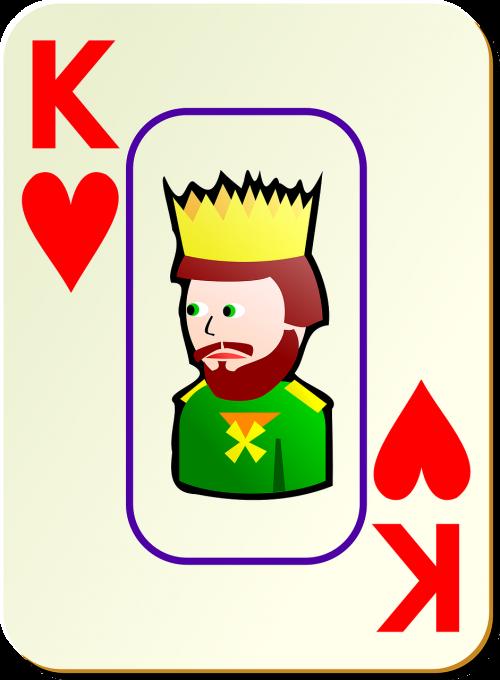 hearts king playing