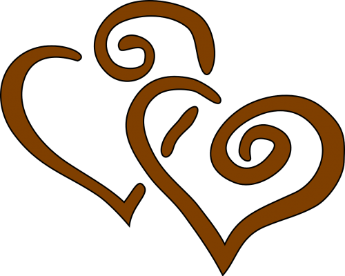 hearts brown together
