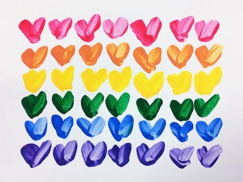 hearts rainbow love