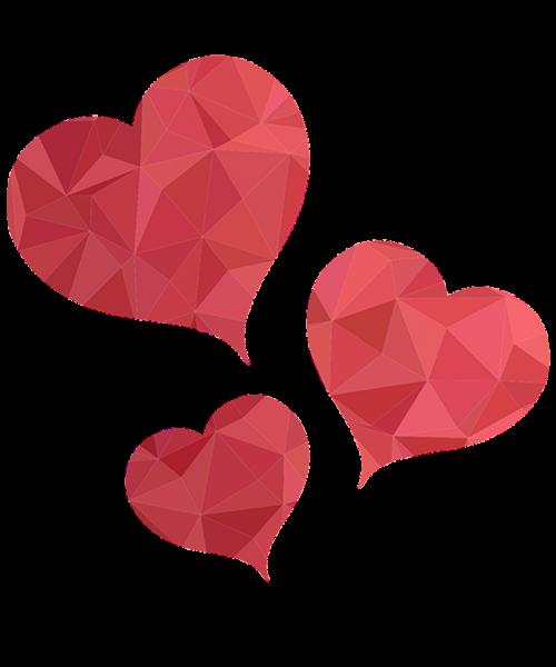 hearts glass hearts heart