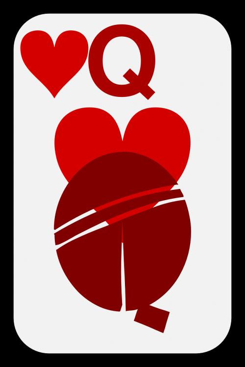 hearts queen cards