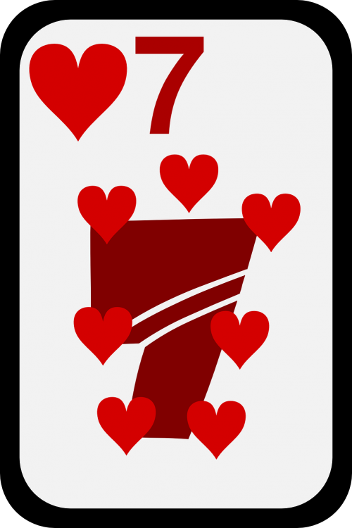 hearts seven cards