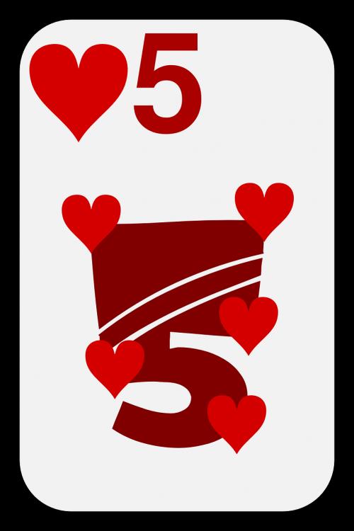 hearts five poker