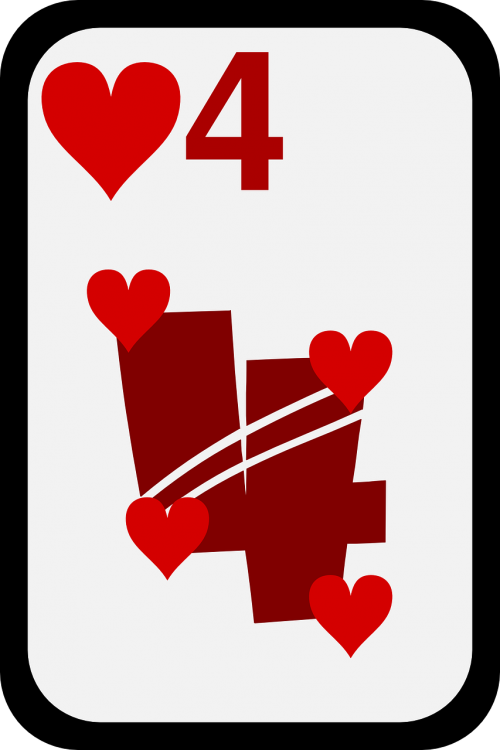hearts four cards
