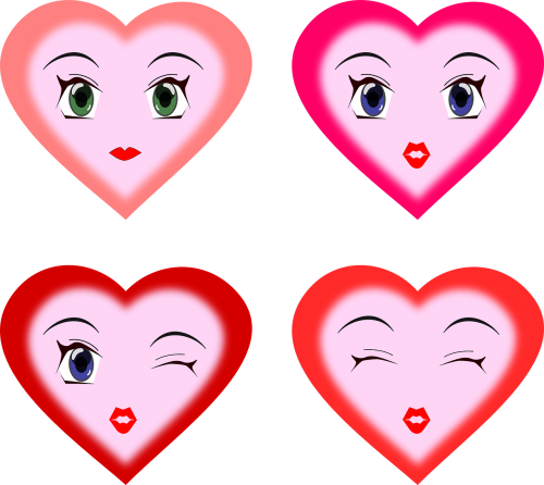 hearts faces expressions