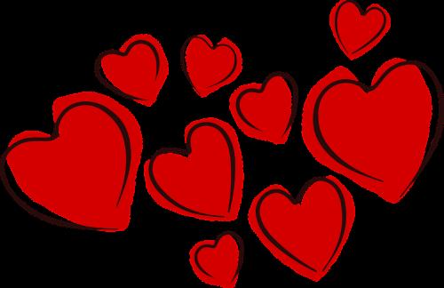hearts valentine love