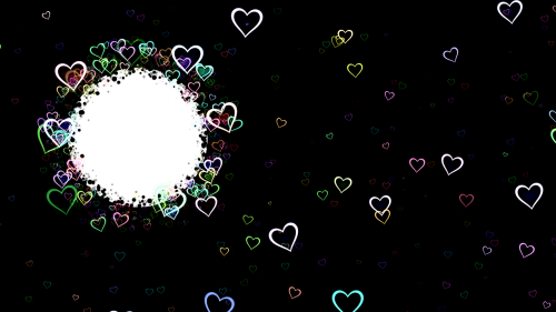 hearts frame background clipart