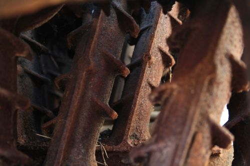 heating iron oxide