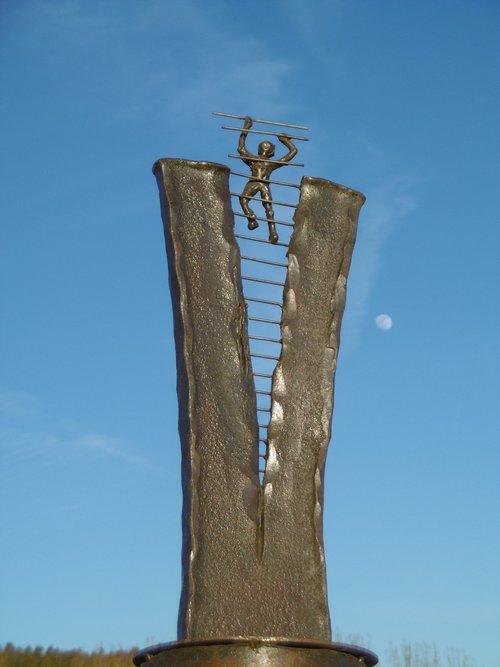 heaven help us  optimist  sculpture