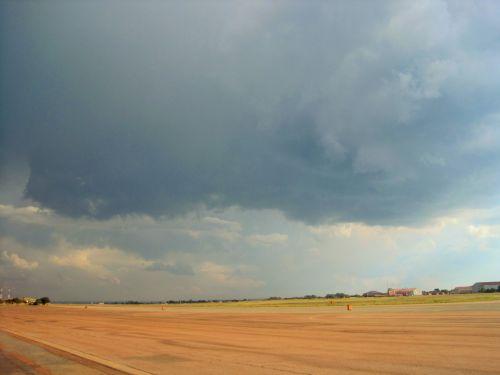 Heavy Cloud Over Air Base