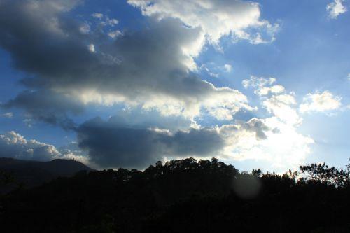 sunkieji & nbsp, debesys, & nbsp, dangus, sunkūs & nbsp, debesys, dangus, mėlynas & nbsp, dangus, debesys, kalnai, sunkūs debesys danguje