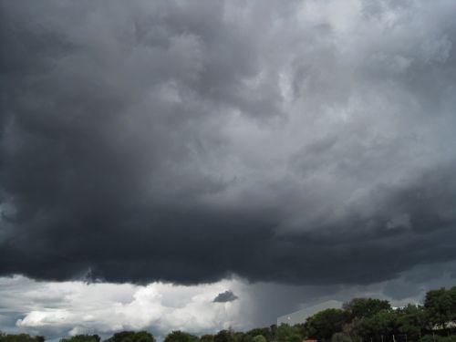 Heavy Dark Thunderstorm Cloud