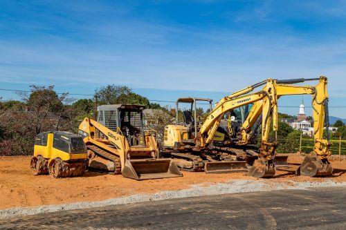 heavy equipment dig yellow