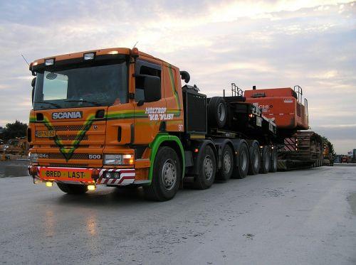 heavy transport truck scania