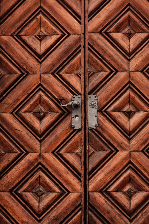Heavy Wooden Door
