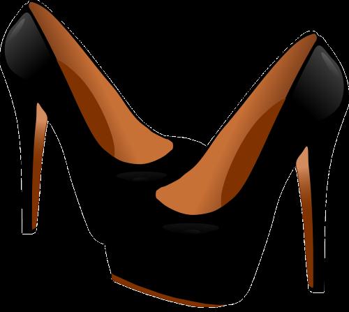 heels shoes black