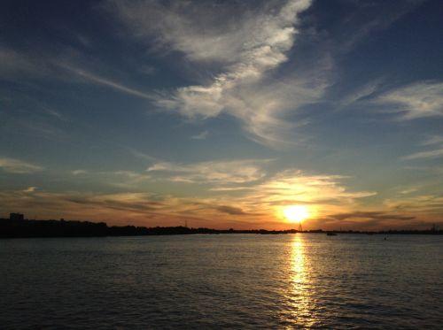 height sunset sky