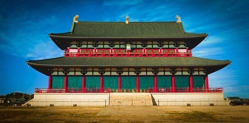 heijō palace  nara  temple