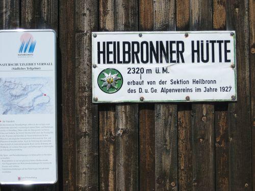 heilbronner hut alpine club dav