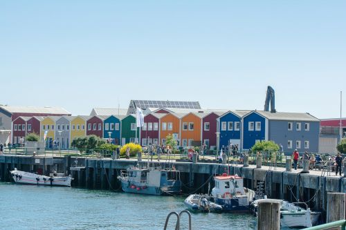 helgoland colorful colourful houses