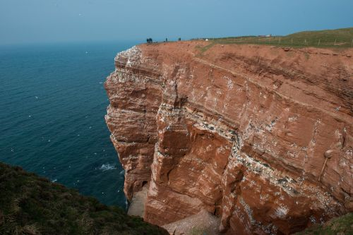 helgoland cliffs sea island