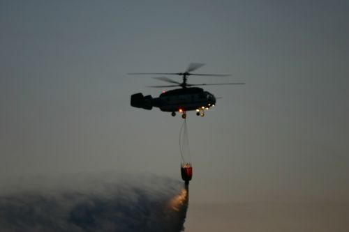 helicopter download water night
