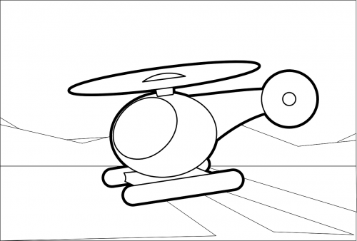 helicopter flies copter