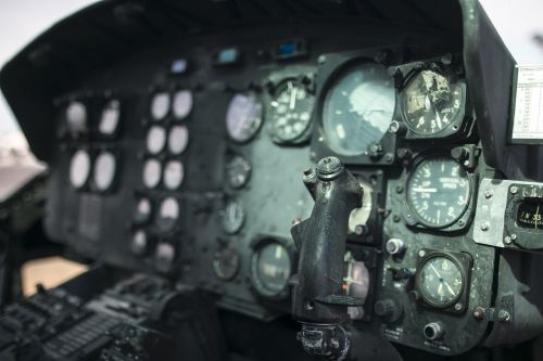helicopter huey cockpit