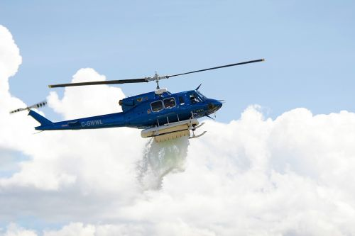 helicopter flying rescue