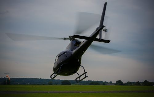 helicopter rotor blades take off