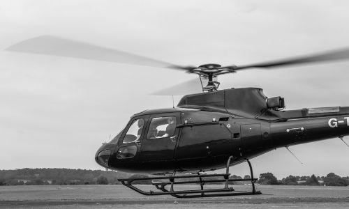 helicopter take off rotor blades