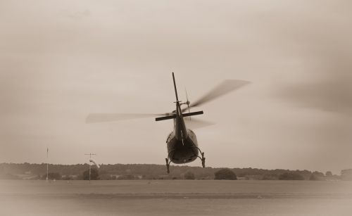 helicopter take off travel