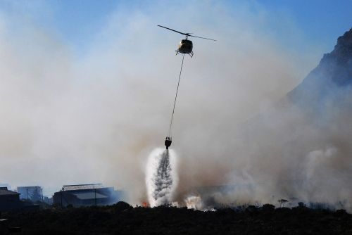helicopter fire smoke