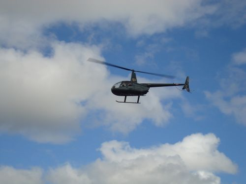 helicopter chopper hovering